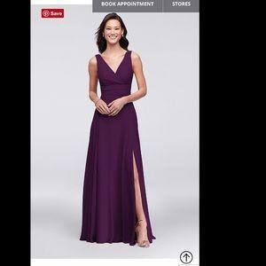 David's Bridal Bridesmaid dress in color plum